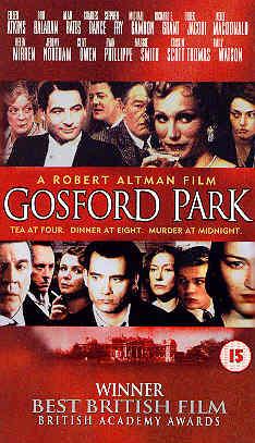 GOSFORD PARK (DVD) - Robert Altman