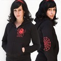 POISONOUS SPIDER GIRL HOODED JACKET SCHWARZ