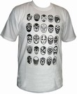 LUCHA LIBRE SHIRT - MIL MASCARAS - 25 MASCARAS - WHITE