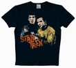 LOGOSHIRT - STAR TREK SHIRT  - SPOCK & KIRK - BLACK