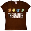 LOGOSHIRT - THE BEATLES HEADS VINTAGE - GIRL SHIRT