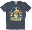 LOGOSHIRT - WONDER WOMAN SHIRT - DC COMICS - DUNKELBLAU