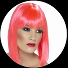 Glam Per�cke Neon pink