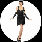 Flapper Foxy Kostüm schwarz