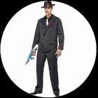 Gangster kostüm Nadelstreifen