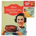 1 x MAKE CHOCOLATE CAKE NOT WAR - GESCHIRRTUCH