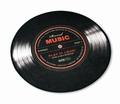 1 x RECORD MUSIC TEPPICH KLEIN SCHALLPLATTE