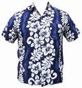 2 x HAWAII HEMD CLASSIC FLOWER - DUNKELBLAU