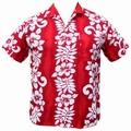 1 x HAWAII HEMD CLASSIC FLOWER - ROT