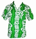 2 x HAWAII HEMD CLASSIC FLOWER - GR�N