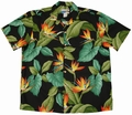 2 x ORIGINAL HAWAIIHEMD - AIRBRUSH BIRD OF PARADISE - SCHWARZ - WAIMEA CASUAL