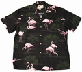 2 x ORIGINAL HAWAIIHEMD - FLAMINGO BLACK - PARADISE FOUND