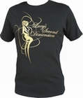 7 x LUCY�S SECOND DIMENSION - BLACK/GOLD - SHIRT