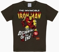5 x LOGOSHIRT - IRON MAN KIDS SHIRT - MARVEL - BRAUN