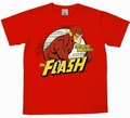 1 x LOGOSHIRT - DER ROTE BLITZ SHIRT - THE FLASH - DC COMICS - ROT