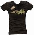1 x CHILLED BEACH - GIRL SHIRT SCHWARZ