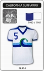 1 x CALIFORNIA SURF 1980 - TRIKOT
