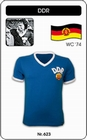 5 x DDR - WORLD CUP 1974 - TRIKOT