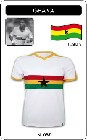 9 x GHANA TRIKOT - RETRO TRIKOT WEI