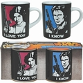 1 x MINI TASSEN 2ER SET - STAR WARS - I LOVE YOU - I KNOW