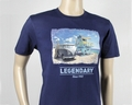 VW T1 BUS T-SHIRT - STRAND/BLAU