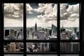 NEW YORK SKYLINE FENSTER  - POSTER