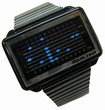 TOKYOFLASH UHR - EQUALIZER HIGH FREQUENCY  BLACK & BLUE LIGHTS