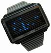 Tokyoflash Uhr - Equalizer High Frequency  Black & Blue Lights