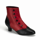 FLORA-1023 - BLACK AND RED SPAT ANKLE BOOT