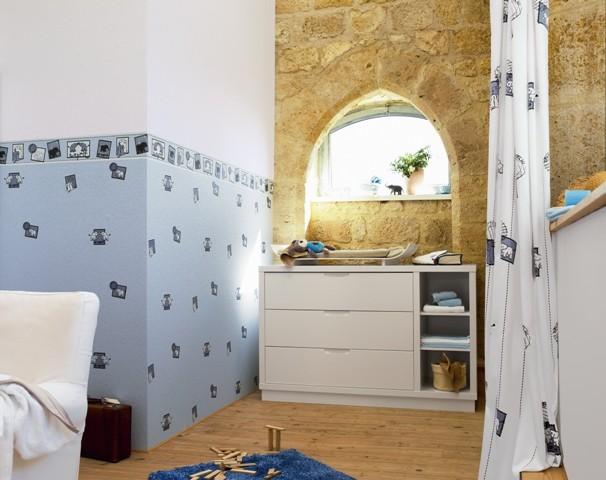tapete wild safari bord re blau tapete esprit kids tapeten bei retro. Black Bedroom Furniture Sets. Home Design Ideas