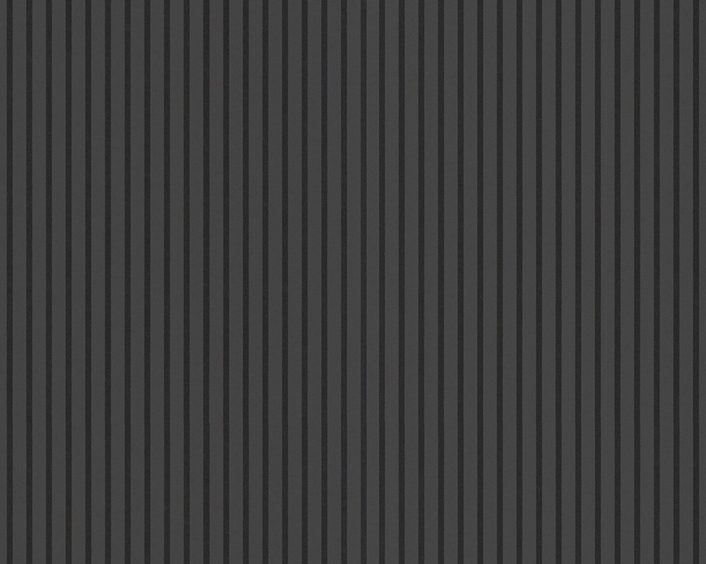 Schwarze Tapete Mit Blumen : Tapete – Flock Iii – Streifen – Schwarz Tapete – Flock III (Tapeten