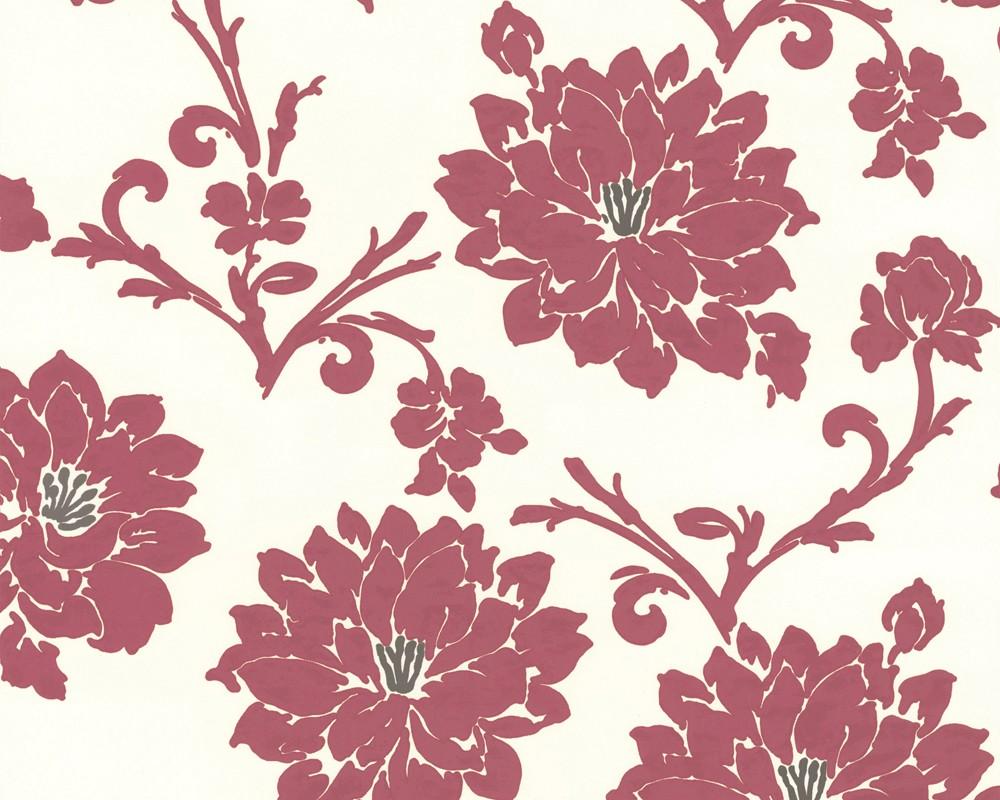 tapete flock iii floral rot aus flock iii. Black Bedroom Furniture Sets. Home Design Ideas