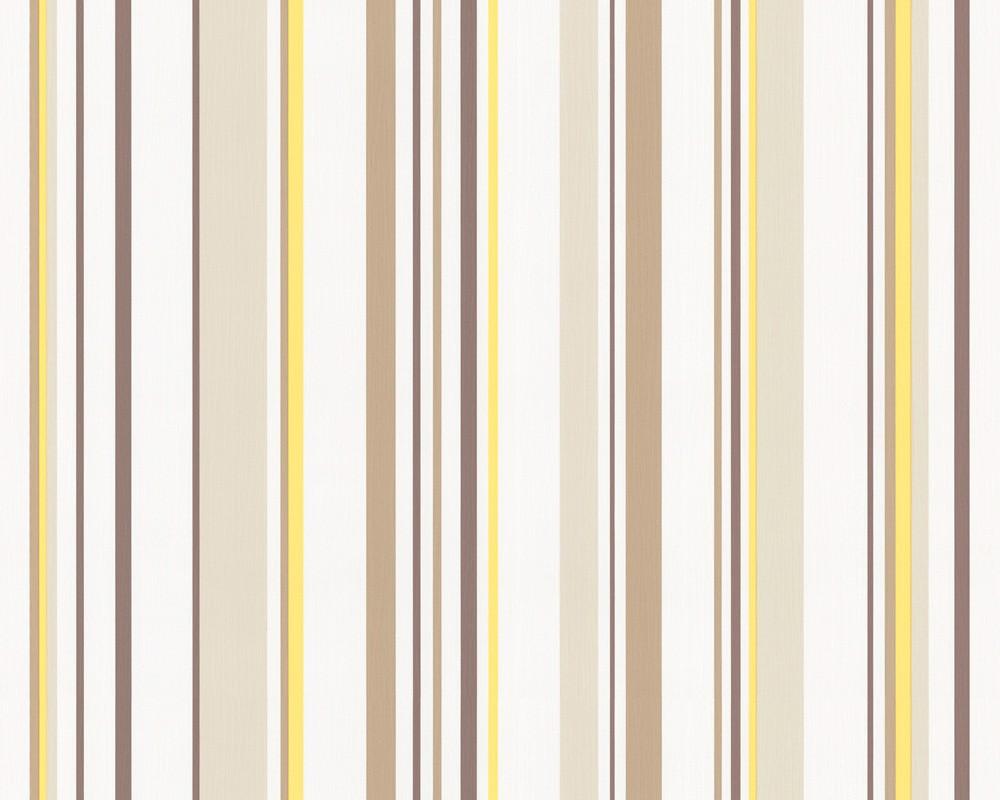 tapete springtime 3 streifen gelb tapete springtime tapeten bei retro. Black Bedroom Furniture Sets. Home Design Ideas