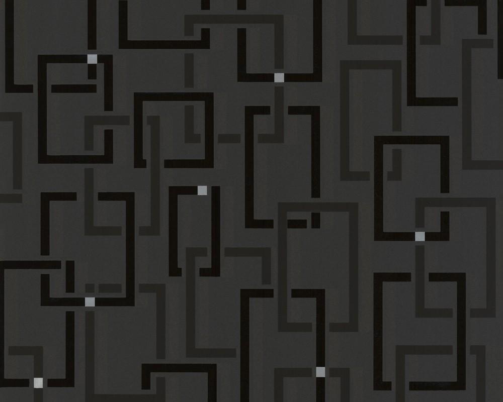 moderne tapete schwarz. Black Bedroom Furniture Sets. Home Design Ideas