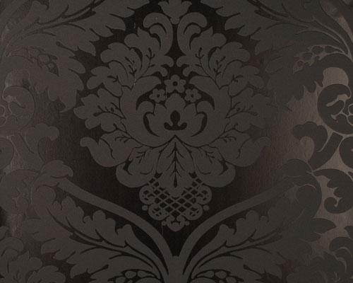 Barock Tapete Schwarz Metallic : Black and White Baroque Wallpaper