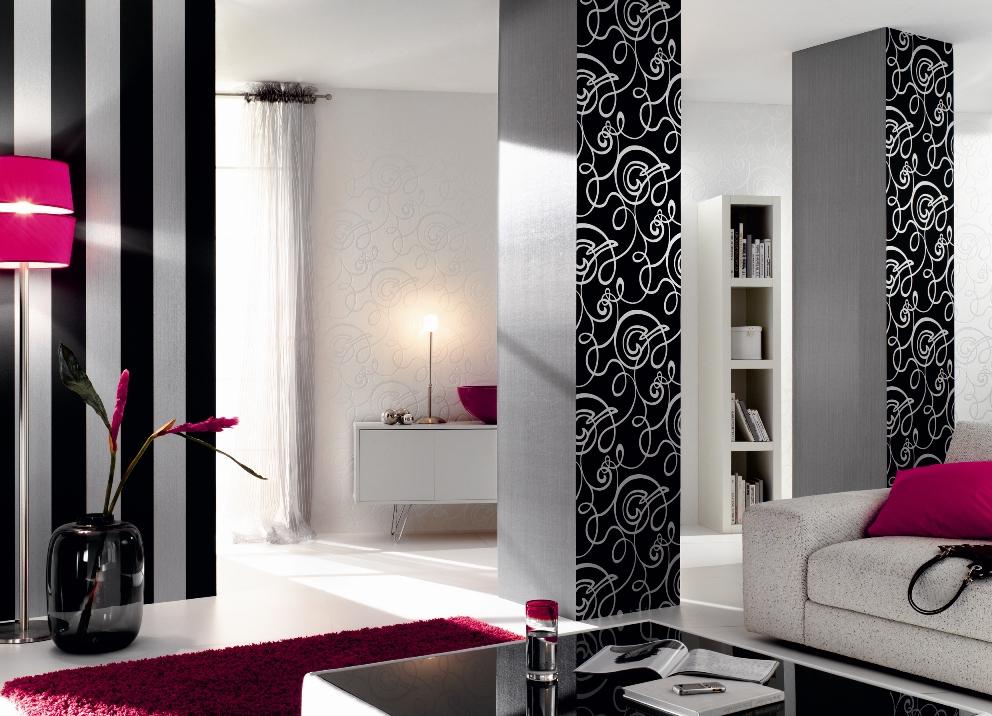 tapete flock ii weiss curls tapete flock ii. Black Bedroom Furniture Sets. Home Design Ideas