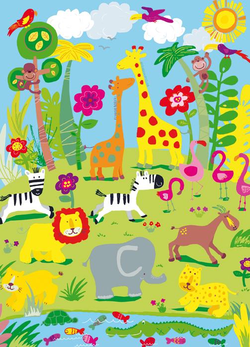 Tapete kinderzimmer tiere  Fototapete Tiere Zoo Giraffe Kinderzimmer Tapete - Fototapete-Kids ...