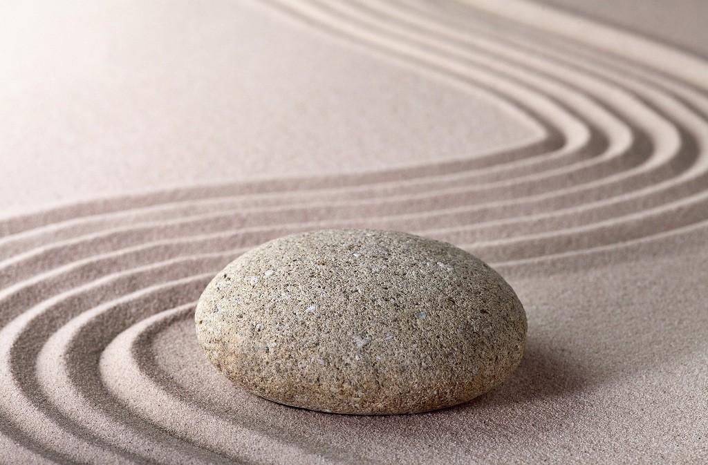 fototapete zen stein sand tapete - fototapete-eyecatcher (tapeten, Garten Ideen