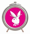 PLAYBOY CHROM WECKER PINK